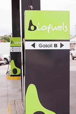 A Bio Fuel Petrol Station In Ecija Print by Ashley Cooper