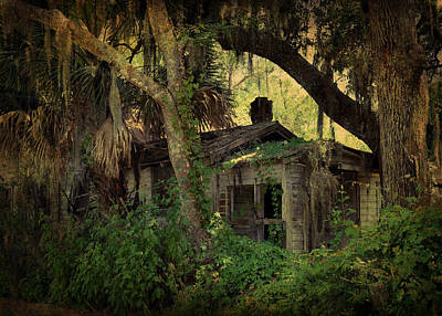 A Bit Of Old Florida In Spring Creek Print by Carla Parris
