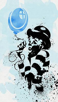 A Blue Balloon Print by Olga Hamilton