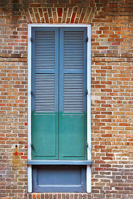 A Blue Door In New Orleans Print by Christine Till