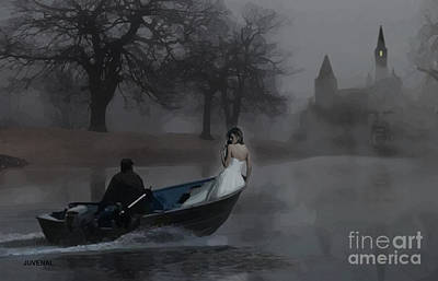 A Boat In The Fog Print by Joseph Juvenal
