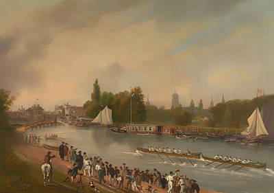 A Boat Race On The River Isis In Oxford Print by Mountain Dreams