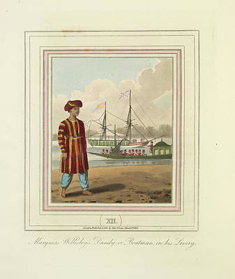 A Boatman Print by British Library
