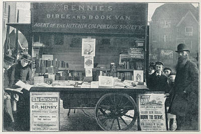 Bible Photograph - A Bookseller by British Library