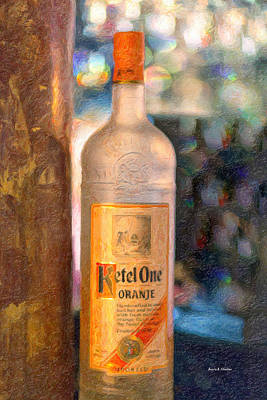 A Bottle Of Ketel One Print by Angela A Stanton