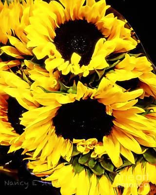 A Bouquet Of Sunshine  Print by Nancy E Stein