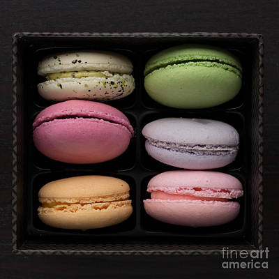 A Box Of French Macaron Cookies Print by Edward Fielding
