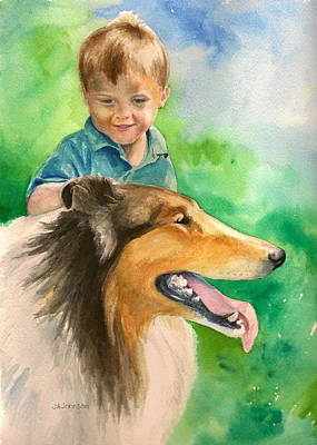 A Boy And His Dog Original by Judith A Johnson