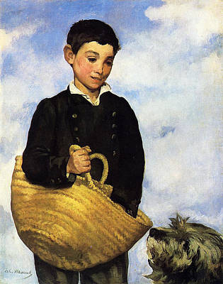 A Boy With A Dog Print by Edouard Manet