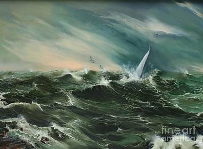 Albatross Painting - A Brave Sailor by Elizabeth Williams