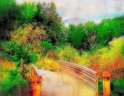 Rick Todaro Painting - Bridge To Nature  by Rick Todaro