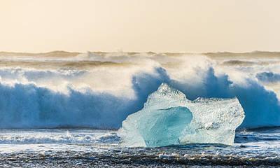 Iceberg Photograph - A Brief Respite - Iceland Coast Photograph by Duane Miller