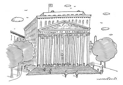 Washington D.c Drawing - A Building In Washington Dc Is Shown by Michael Crawford