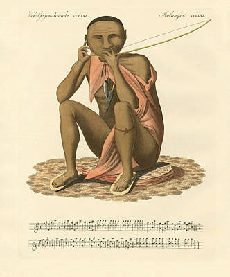 South Africa Drawing - A Bushman Of South Africa by Splendid Art Prints