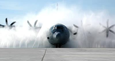 Uso Photograph - A C-130j Super Hercules by Celestial Images