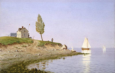 Henry Farrer Painting - A Calm Afternoon. Long Island by Henry Farrer