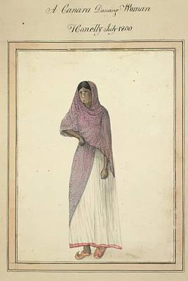 A Canara Dancing Woman Print by British Library