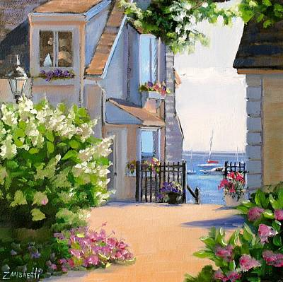 Cape Cod Painting - A Cape Cod Paradise by Laura Lee Zanghetti