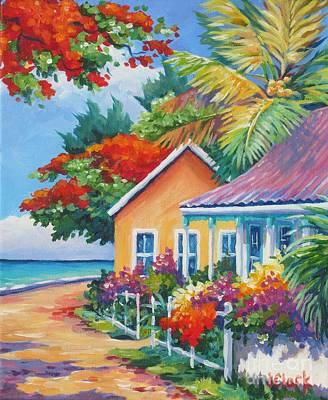 Cayman Islands Painting - A Cayman Street In Summer by John Clark