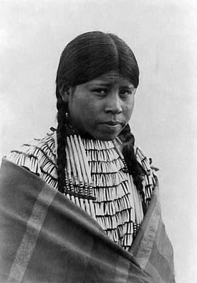 Native American Woman Digital Art - A Cheyenne Maiden  by Richard Throssel