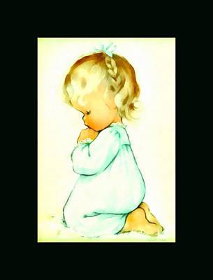 A Childs Prayer Duvet Print by Charlotte Byj