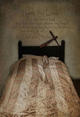 Bed Quilts Photograph - A Child's Prayer by Robin-lee Vieira