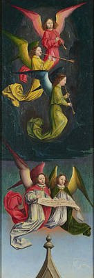 Simon Marmion Painting - A Choir Of Angels - From Left Hand Shutter by Simon Marmion