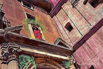 A Church In Murcia Original by Sarah Loft