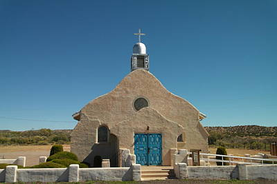 A Church In New Mexico Print by Jeff Swan