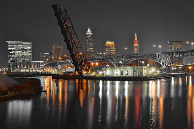 A Cleveland Night Print by Frozen in Time Fine Art Photography