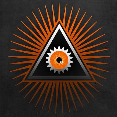 Clockwork Orange Digital Art - A Clockwork Orange Eye by Filippo B