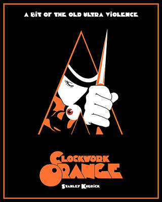 Clockwork Orange Digital Art - A Clockwork Orange Movie Poster by Finlay McNevin