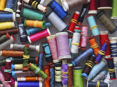 Large Group Of Objects Photograph - A Close View Of Threads by Bernard Jaubert