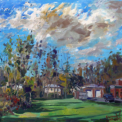 Apartment Painting - A Cloudy Fall Day by Ylli Haruni