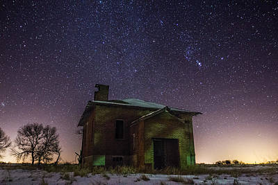 Abandoned House Photograph - A Cold Dark Place by Aaron J Groen