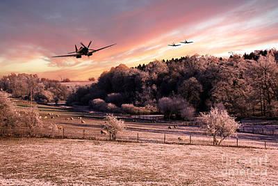 Griffon Digital Art - A Cold Winters Morning  by J Biggadike