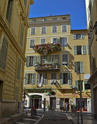 A Corner In Nice Print by Allen Sheffield