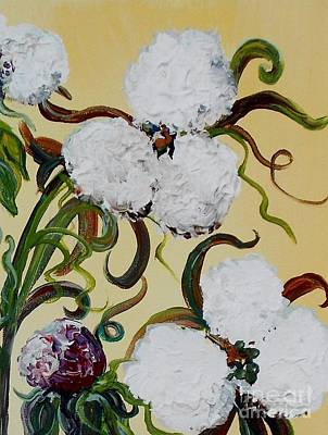 The Cotton Field Painting - A Cotton Pickin' Couple by Eloise Schneider