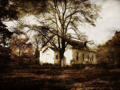 A Country Church Print by Cynthia Lassiter