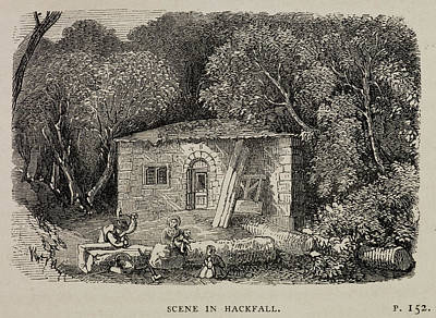 A Country Cottage In Masham Print by British Library