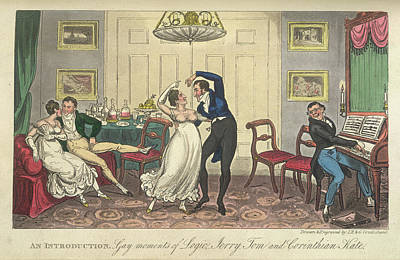 A Couple Dancing Print by British Library
