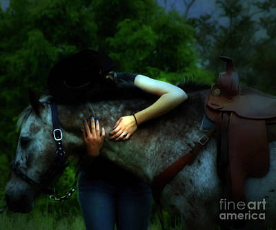 Cowgirls Photograph - A Cowgirl In Love by Steven  Digman