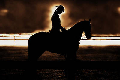 A Cowgirls Prayer Evening Ride Print by Chastity Hoff