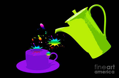 A Cup Of Rainbow Print by Michelle Orai