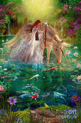 Koi Digital Art - A Curious Introduction by Aimee Stewart