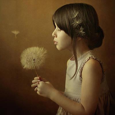 A Dandelion Poem Print by Svetlana Bekyarova