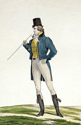 A Dandy In A Robinson Hat Print by Antoine Charles Horace Vernet