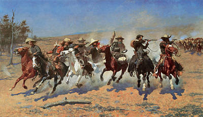 A Dash For The Timbers Print by Frederic Remington