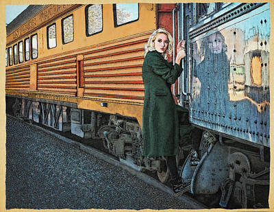 Train Mixed Media - A Departure by Meg Shearer