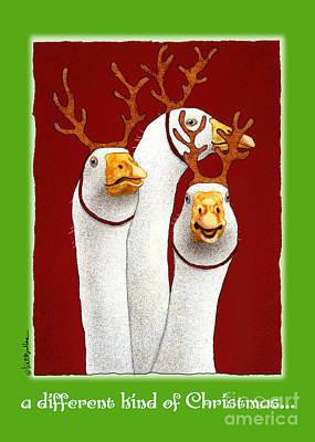 Geese Painting - a different kind of Christmas... by Will Bullas